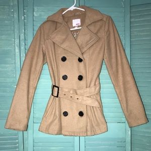 BONGO Women's Tan Peacoat